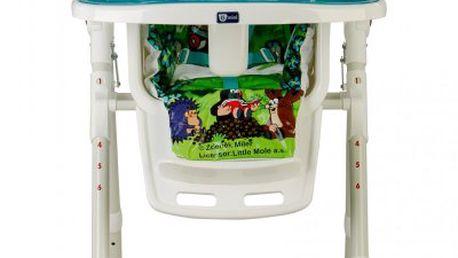 G-mini Jídelní židle Krteček brusle, modrá