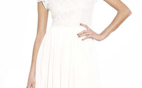 Dámské bílé šaty s krajkou Angel Eye