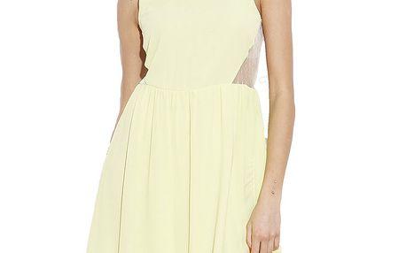 Dámské citronové šaty bez rukávů Angel Eye