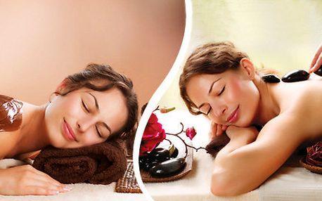 Výběr z relaxačních masáží: čokoládová terapie nebo masáž lávovými kameny
