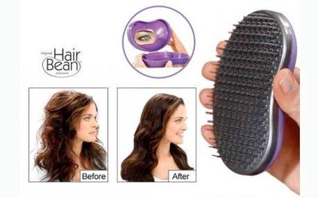 Magický kartáč, který rozčeše všechny typy a délky vlasů. Hair Bean za neskutečných 99 Kč. Navíc získáte i cestovní pouzdro!
