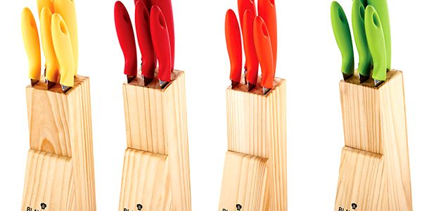 Sada nožů, 6 ks červená