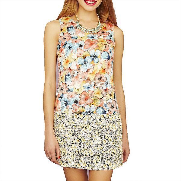 Dámské vícebarevné šaty s květinovým vzorem Angel Eye