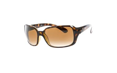 Dámské tmavé žíhané sluneční brýle s hnědými skly Ray-Ban