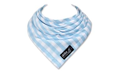Skibz - komfortní bryndák - šátek tkaná bavlna - blue gingham
