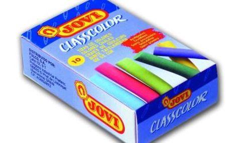 Křídy školní Jovi - 10 kusů barevné, bezprašné - velikost cca 8 cm, průměr 0,7 cm