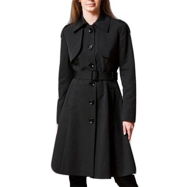 Dámský černý jednořadý kabát Pietro Filipi