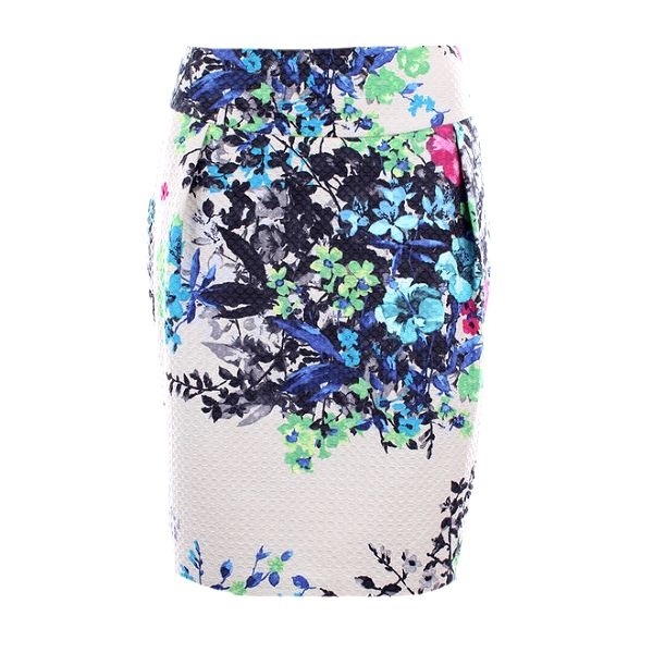 Dámská barevně květovaná sukně