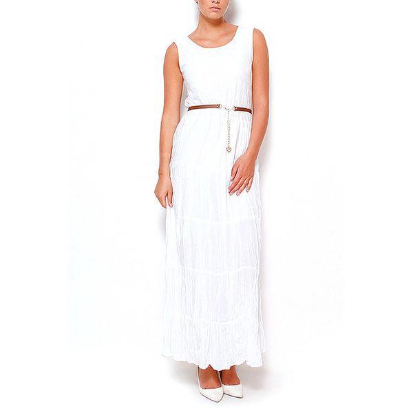 Dámské dlouhé šaty v bílé barvě Dewberry