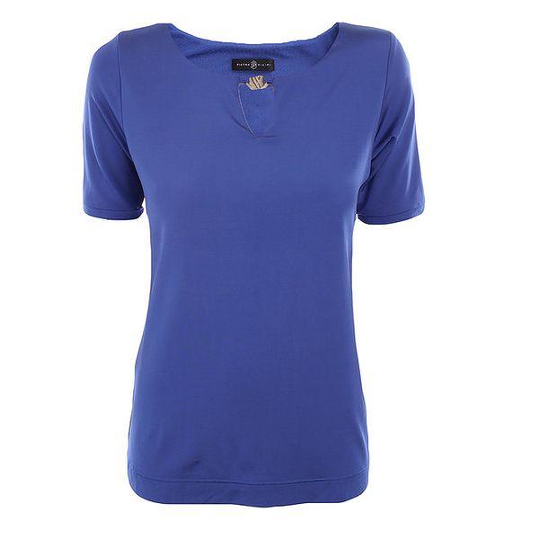 Dámské modré tričko s průstřihem Pietro Filipi
