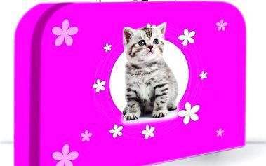 """Karton PP Dětský kufřík """"35"""" - Kočka"""