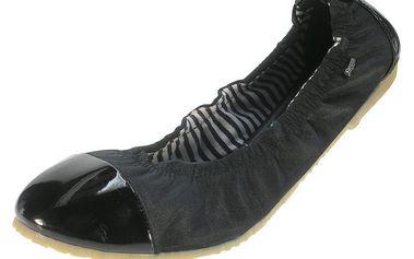 Dámské černé balerínky s lesklou špičkou Beppi