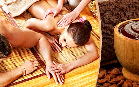 Romantická párová olejová masáž se šampaňským 60 minut - 3 varianty