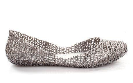 Dámské stříbrné perforované balerínky So Real
