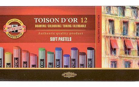 Křídy prašné Koh-i-noor - TOISON D'OR 8512 - 12 barev