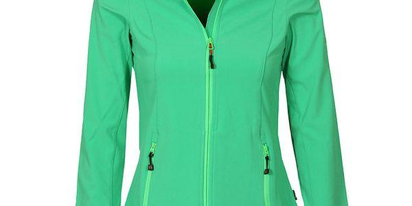Dámská zelená softshellová bunda Bergson