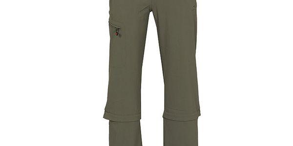 Dámské šedé funkční kalhoty se zipy na nohavicích Bergson