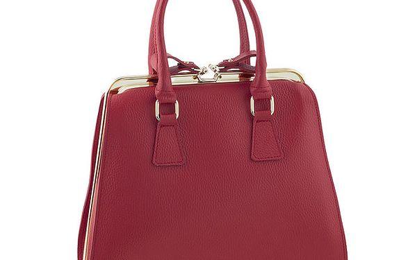 Dámská elegantní červená kožená kabelka Classe Regina
