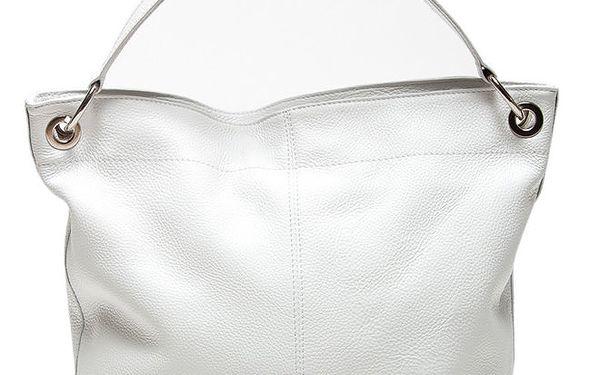 Dámská bílá kabelka s vnější kapsičkou Mangotti