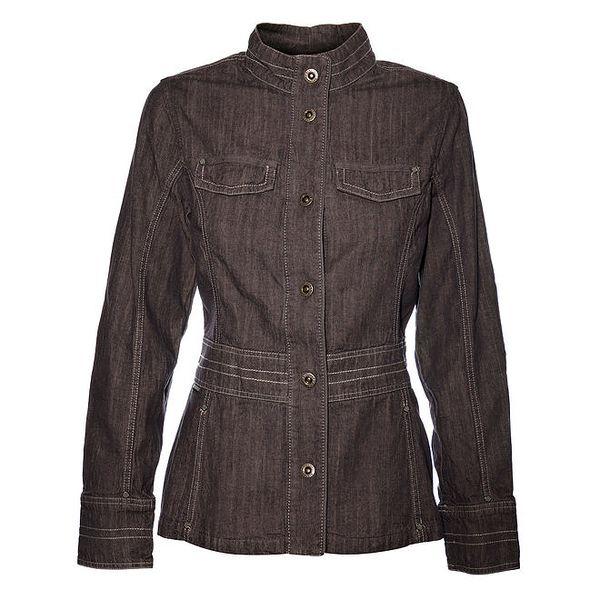 Dámský tmavý džínový kabátek Bushman
