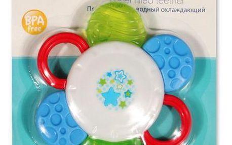 Chladící kousátko Květina Akuku - modrá