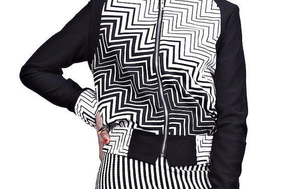 Dámská černo-bílá bunda Liquorish