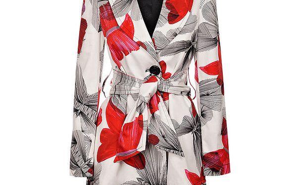 Dámský bílý kabát Miss Sixty s potiskem motýlů