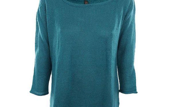 Dámský pletený tyrkysový svetřík Fuga