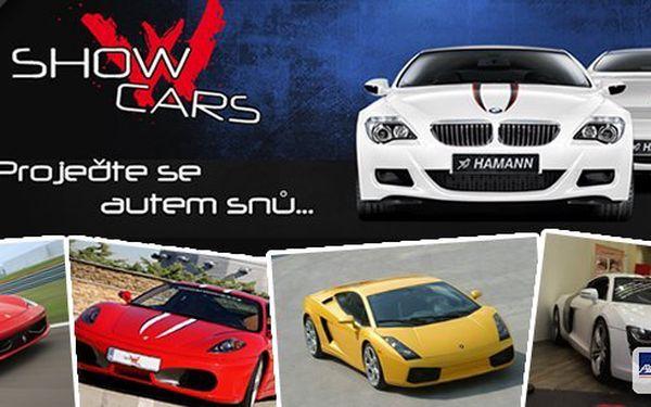 Showcars - viděli jste v pořadu Autosalon! Jediný vlastník Ferrari 458 Italia a Lamborghini Gallardo LP560-4 v ČR! 30 minut jízdy autem snů za akční cenu včetně plochy, na které pojedete jen u nás 300 km/hod! Máte na výběr ze 10 luxusních sportovních voz