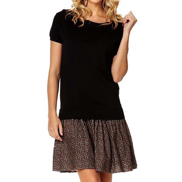 Dámské černé šaty se vzorovanou sukní Miss Jolie