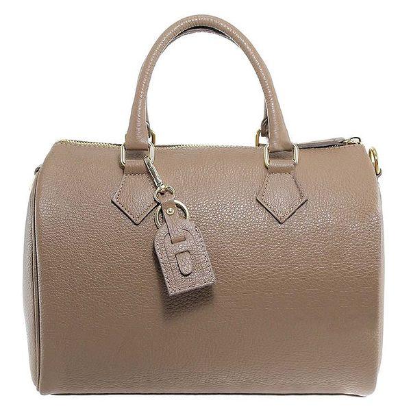 Dámská šedohnědá kožená kabelka Florence Bags