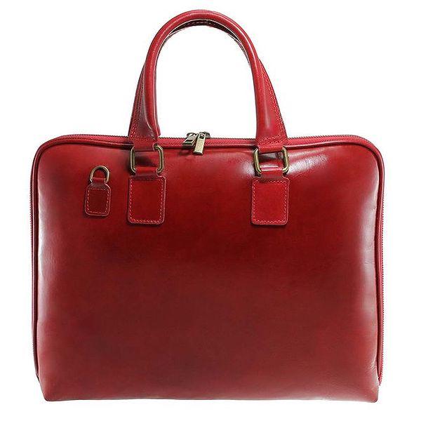 Červená kožená kabela Florence Bags