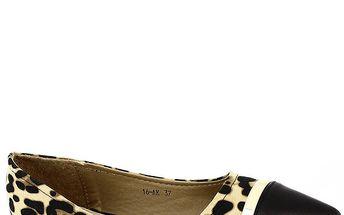 Dámské leopardí baleríny do špičky Shoes and the City