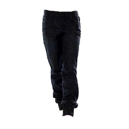 Dámské tmavě modré kalhoty s elastickým pasem Ruby London