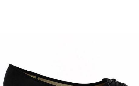 Dámské černé baleríny s mašlí Shoes and the City