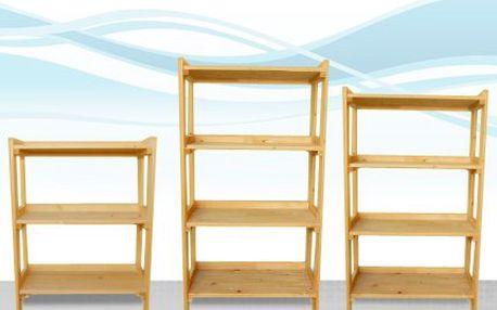 Dřevěný regál do bytu