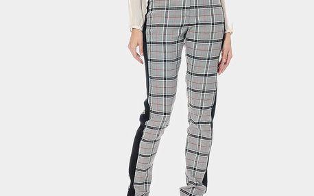 Dámské šedě kostkované kalhoty ODM Fashion