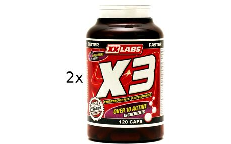 xxlabs x3 thermogenic fat burner 120+120 tbl