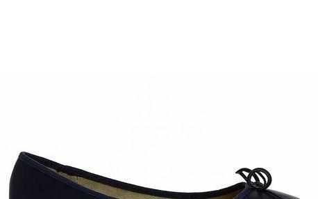 Dámské tmavomodré baleríny s mašlí Shoes and the City