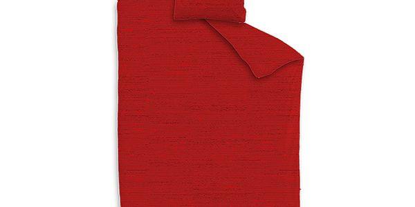Ložní povlečení červené, deka 140 x 200 cm + 1 polštář 64 x 64 cm