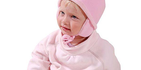 Růžová sada čepičky, šály a rukavic