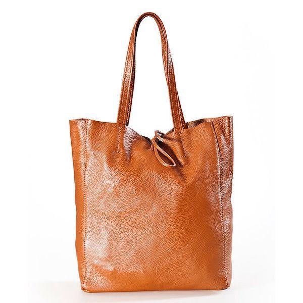 Dámská koňaková kabelka s vnitřní kapsičkou Luisa Vannini