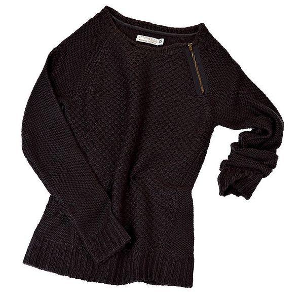 Dámský tmavě šedý svetr se zipem Stitch&Soul