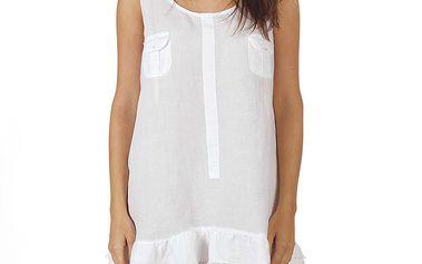 Dámské bílé šaty na ramínka Ada Gatti