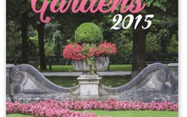 Zahrady, poznámkový kalendář 2015, 30 x 30 cm