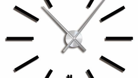 Nástěnné samolepící hodiny - černé