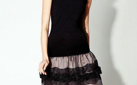 Dámské černé šaty s tylovou sukní Rylko