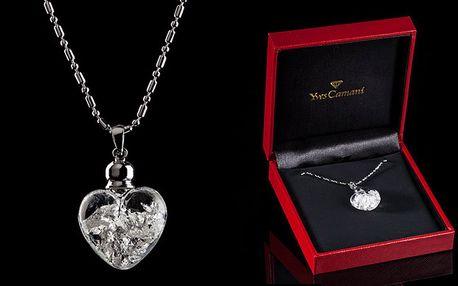 Yves Camani náhrdelník s ryzím 999.9/1000 stříbrem s poštovným