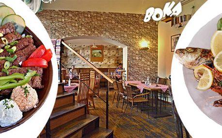 Speciality středomořské kuchyně v restauraci Boka