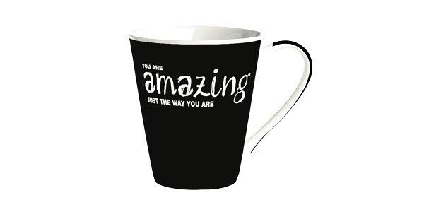 "Porcelánový hrnek ""You are amazing just the way you are!"